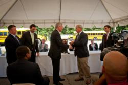 Hall County, Ga., key-handing ceremony for 20 school buses fueled by propane autogas